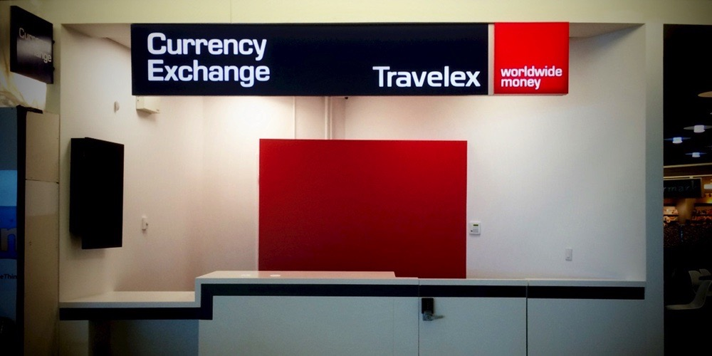 Bellmount Signs & Graphics. Project Travelex