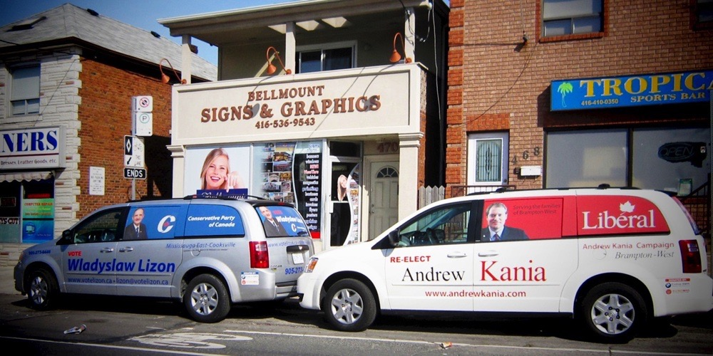 Bellmount Signs & Graphics. Projects Lizon & Kania
